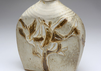 David Weinrib,  Vase, early 1950s, stoneware, 11.25 x 9.5 x 5 inches. Black Mountain College Museum + Arts Center Collection.
