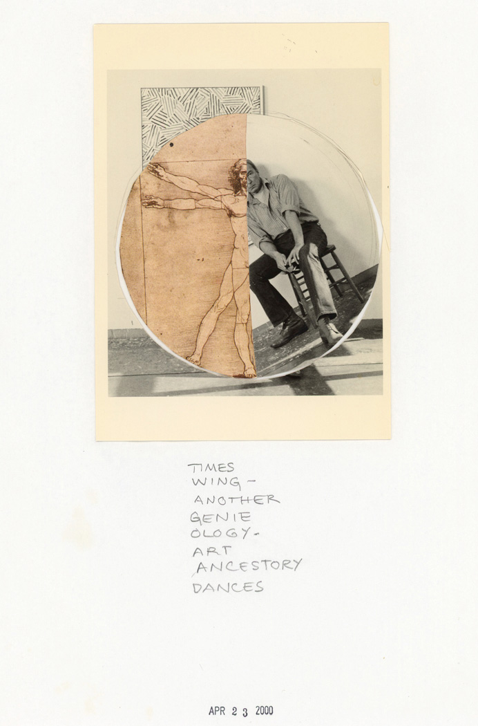 "Susan Weil, April 23, 2000, collage, 11 x 8.5"". Courtesy of the Artist."