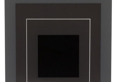 Josef Albers, Gray Instrumentation I, 1974, 5/36, silkscreen on paper, 19 x 19 inches (paper) 11 x 11 inches (image. Gift of Philip Neal.