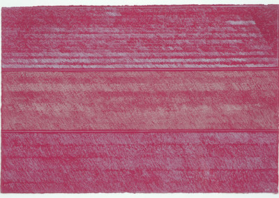 Kenneth Noland, Untitled, 1990, etching on GUARRO paper, P/A II/X, 14 5/8 x 21 7/8 inches. Gift of Leo Krikorian.