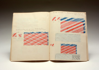 Lolita Georgia, Weaving Class Notebook, 1935. Black Mountain College Museum + Arts Center Collection. Gift of Nathalie Sato.