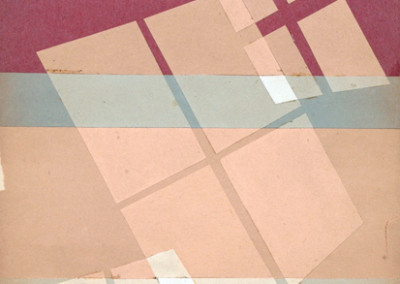 Margaret Balzer Cantieni, Color Study, 1945, paper, 12 x 9 inches. Gift of Janice C. Larson