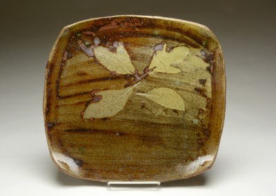 M.C. Richards, Platter, ca. 1953, stoneware, .5 x 13.5 x 12.75 inches. Black Mountain College Museum + Arts Center Collection. Gift of Mary Fitton Fiore.