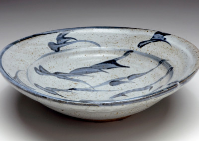 Shoji Hamada, Bowl, 1952, stoneware, 10 x 10 x 3 1/8 inches. Black Mountain College Museum + Arts Center Collection. Gift of Betty Kuhn.
