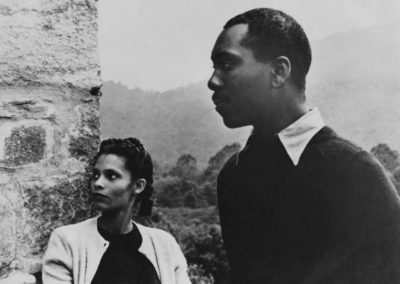 Jacob Lawrence and Gwendolyn Knight Lawrence, Black Mountain College, 1946. Photograph by Nancy Newhall.