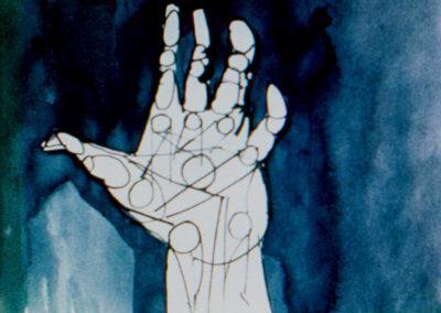 Stan VanDerBeek, Astral Man (film still), 1959. Courtesy of the Stan VanDerBeek Archive.