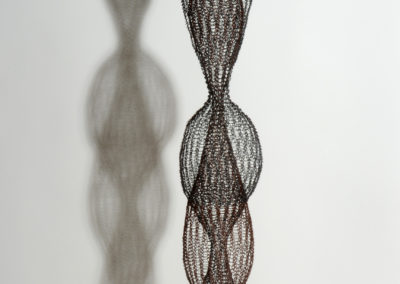 """Ruth Asawa, """"Untitled (S.373, Hanging Six-Lobed, Multilayered Interlocking Continuous Form within a Form,"""" 1954. Collection of Black Mountain College Museum + Arts Center. Gift of Lorna Blaine Halper."""