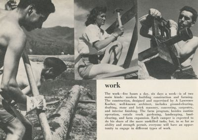 BMC Work Camp information page, 1944