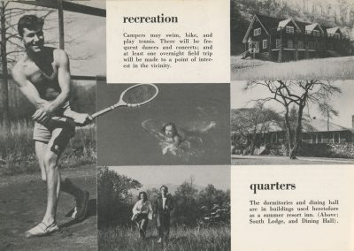 BMC recreation + quarters information page, 1944