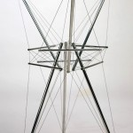 """Kenneth Snelson, """"Tall Star,"""" 1979. Aluminum and stainless steel. Collection of Black Mountain College Museum + Arts Center. Gift of the Artist."""