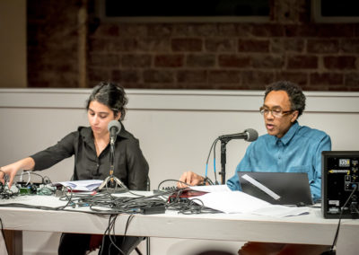 Jace Clayton aka DJ /rupture and Arooj Aftab perform The Jacob Lawrence of Jacob Lawrence, an original commission for Between Form + Content