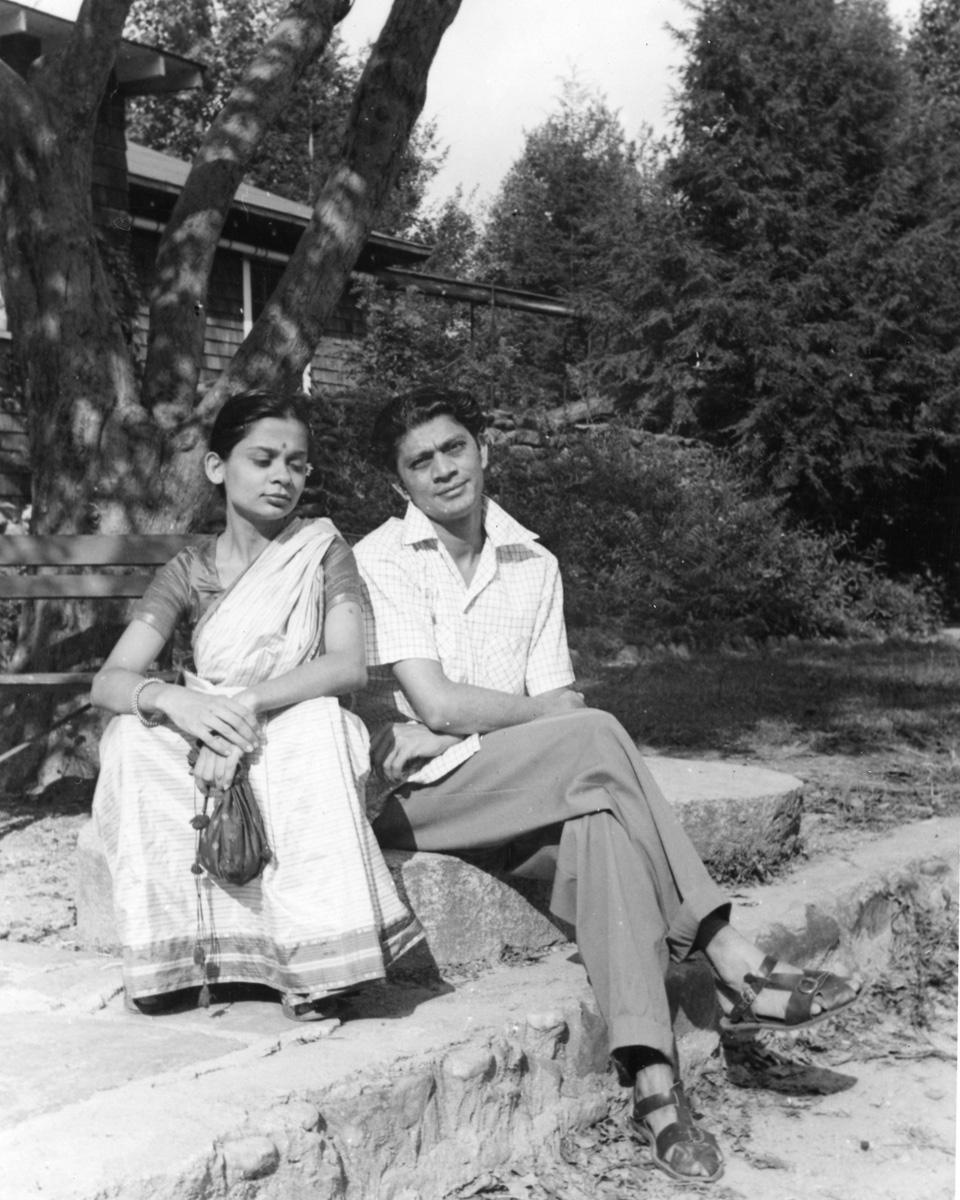 Nataraj Vashi and Praveena Mehta at BMC. Digital print from archival scan. Western Regional Archives, State Archives of NC.