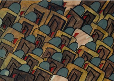 Jacob Lawrence, Disembarkation, gouache on paper.
