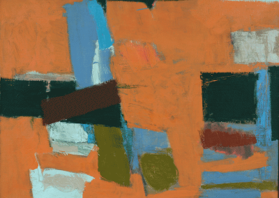 "Joseph Fiore, Orange Field II, 1955, oil on canvas, 25 1/8"" x 33"" Gift of the Artist"