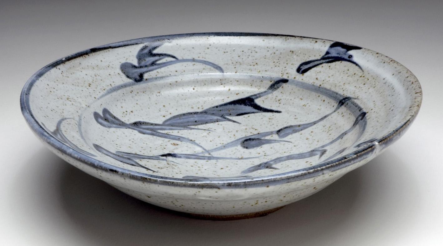 "Shōji Hamada, ""Bowl,"" ca. 1952. Glazed stoneware. Collection of Black Mountain College Museum + Arts Center. Gift of Betty Kuhn."