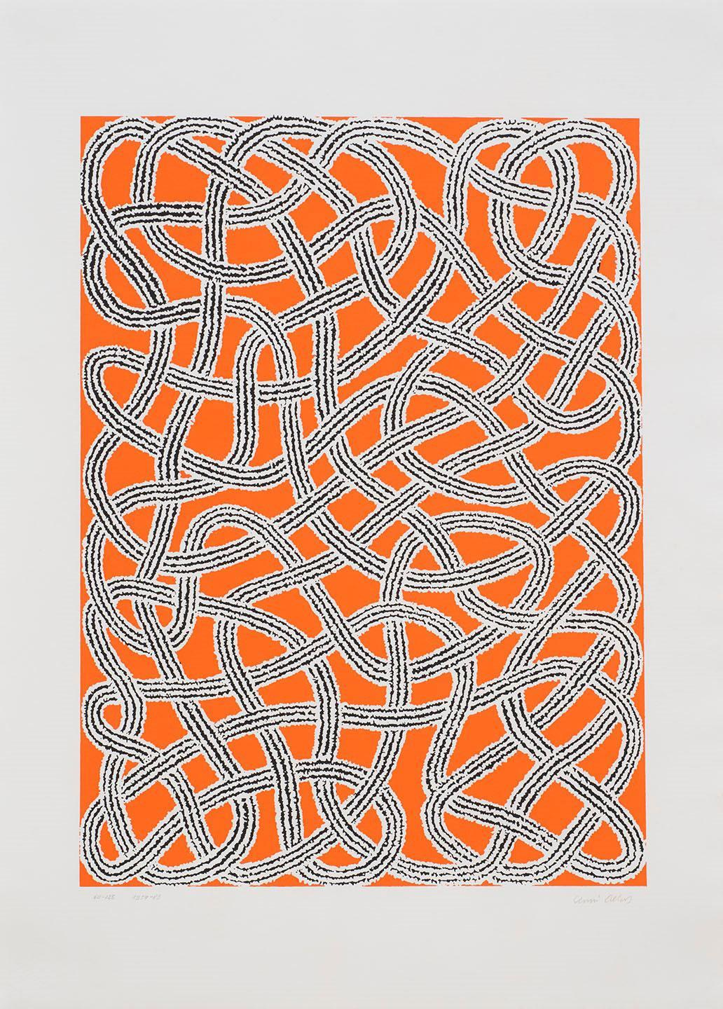 """Anni Albers, """"Study for Nylon Rug from Connections,"""" 1959/1983. Silkscreen on paper, ed. 60/125. Courtesy of The Johnson Collection."""