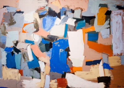 """Joseph Fiore, """"#7-54 The Gathering,"""" 1954. Oil on canvas. Collection of Matt Chambers and John Cram."""
