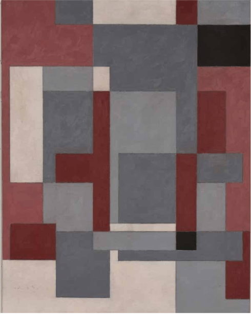 """Leo Krikorian, """"Untitled,"""" 1948. Oil on masonite. Collection of Black Mountain College Museum + Arts Center. Gift of the Artist."""